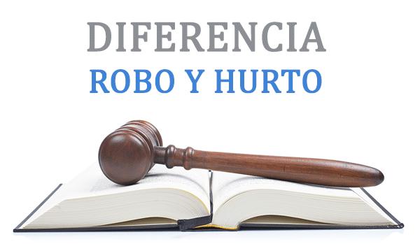 Diferencia entre robo y hurto