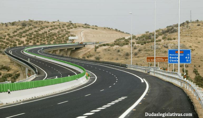 tipos de vías - autovías