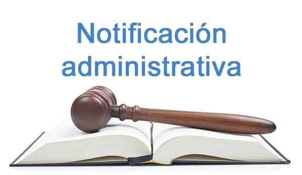 notificación administrativa