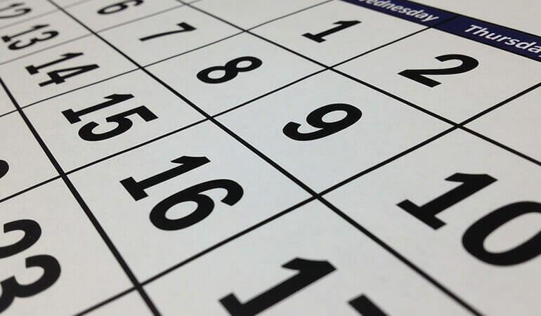 días hábiles, días naturales y días laborables