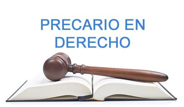 precario en derecho