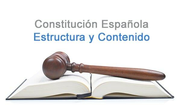 constitucion española estructura y contenido