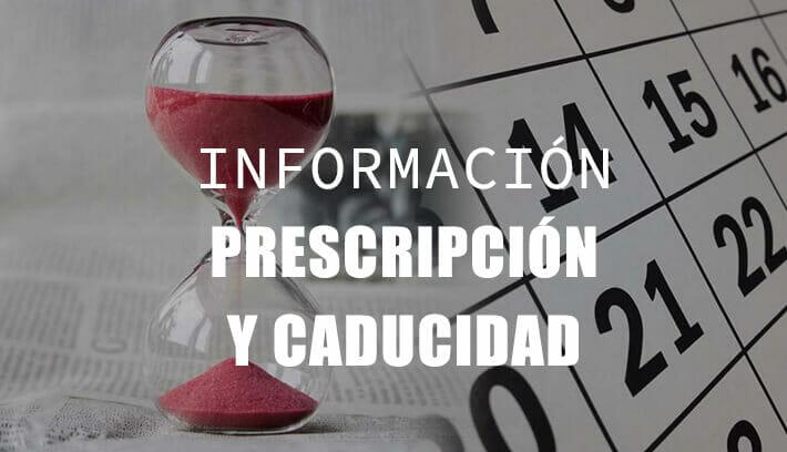 prescripción y caducidad
